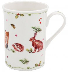 A beautifully designed mug featuring enchanting woodland characters. Complete with gift box.