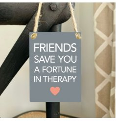 A beautiful mini metal sentiment sign with a new friendship slogan. A lovely gift item for many occasions.