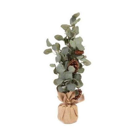 Pinecone & Eucalyptus Plant, 60cm