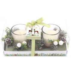 This sweetly scented set of small candles is part of a delightful new range of Festive Homewares
