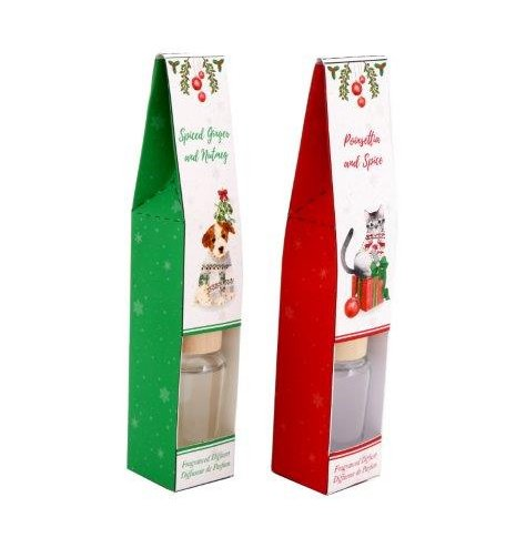 An assortment of 30ml Reed Diffusers with festive themed scents,
