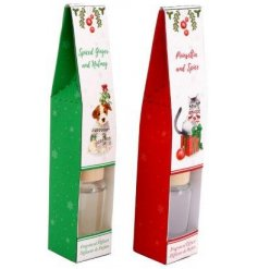 A fun and festive assortment of Christmas themed diffusers with Cat and Dog decals on each