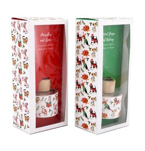 An assortment of 100ml Reed Diffusers with festive themed scents