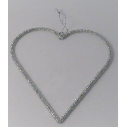 Hanging Beaded Heart