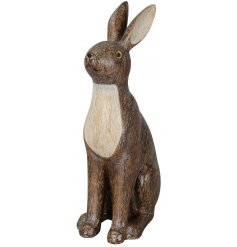 A decorative Hare Ornament complete with a carving inspired decal