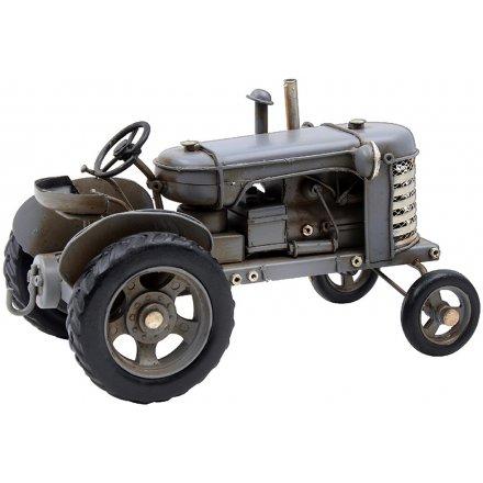 Grey Vintage Tractor Ornament