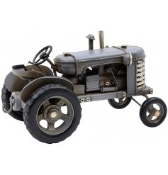 A vintage inspired Tractor in a Grey Tone
