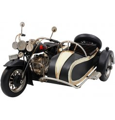 Set with its realistic features and distressed details, this metal bike will look perfect in any study or shelf space