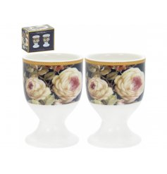this charming set of egg cups will be sure to place perfectly in any home