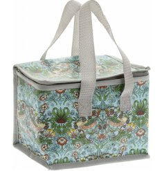 Perfect for on the go, this beautifully vibrant lunch bag also has easy carry handles and a zip shut lid for freshness