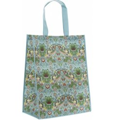Covered with a beautifully vibrant Strawberry Thief decal, this shopping bag is perfect while out and about