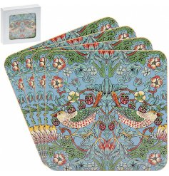 Bring a vibrant touch to your coffee table with this charming set of colourful coasters