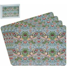 Bring a vibrant touch to your dining room table with this charming set of colourful placemats