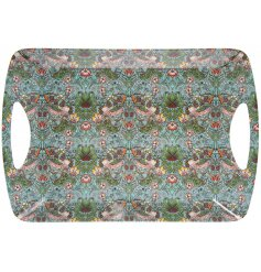 A pretty patterned serving tray from the Strawberry Thief range