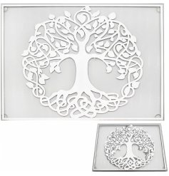 this charming set of mirrored placemats will be sure to add a glitzy feature to any home space