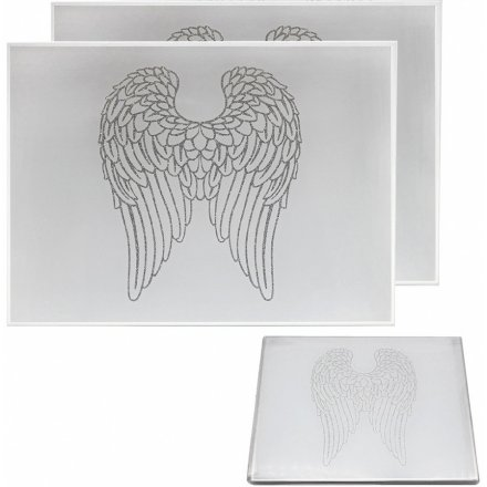 Glitter Wings Placemats, Set of 2
