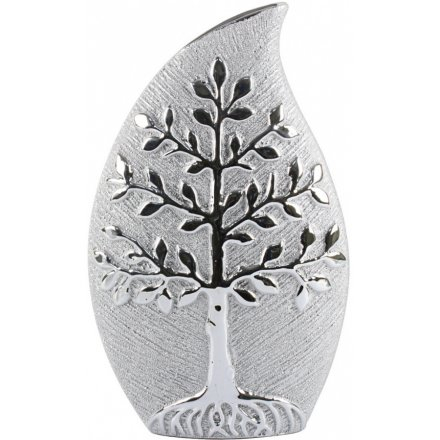 Silver Tree Vase, 35cm