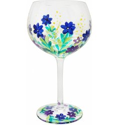 Featuring a beautiful hand decorated floral decal, this Gin Glass also come with a matching gift box