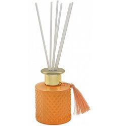 this Desire Noir Reed Diffuser features a stylish ridged decal and tassel finish