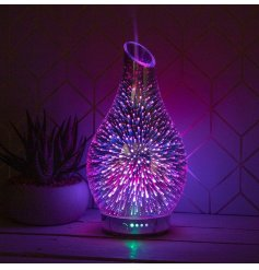 Decorated with a gorgeous 3D firework decal, this Humidifier also features a calming colour changing LED fitting insid