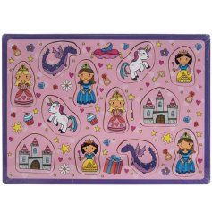 A wooden puzzle with a very girly Princess theme.