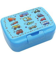 this Transport covered lunch boxy will be sure to keep your little ones lunches fresh!