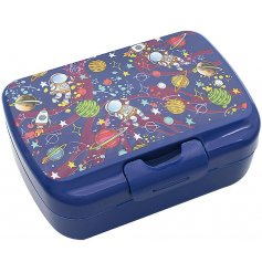 this little plastic lunch box will be sure to entertain your little ones while they eat
