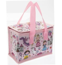 this princess covered lunch bag will be sure to keep your little ones entertained while they eat