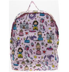 this princess covered bag will be sure to keep your little ones organised on days out