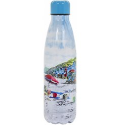 Featuring a detailed Ocean Breeze printed design, this metal water bottle is perfect for any hot day out!