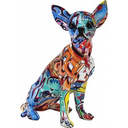 Graffiti Art Chihuahua, 31cm