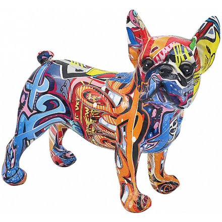Graffiti Art French Bulldog, 28cm