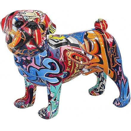 Street Art Pug, 31cm