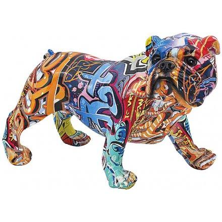 Street Art Bulldog, 33cm