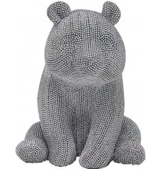 Add a touch of glamour to your home interior with this diamonte covered sitting panda