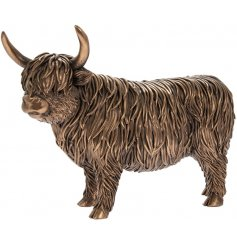 this realistic inspired Highland Cow will be sure to place perfectly in any Country Charm home