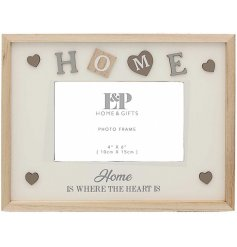 Display your fondest photographed memory with this beautifully sentimental themed picture frame