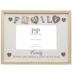A sweet and sentimental picture frame with added scripted text and decals