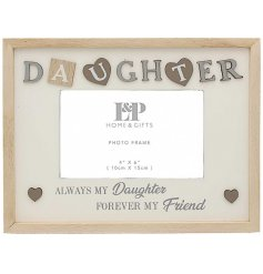 Sure to make any wonderful Daughter smile, this Sentiments Frame features a sweetly scripted text and decal