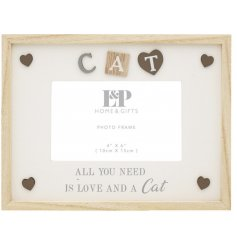 this natural wooden frame will place perfectly in pets home