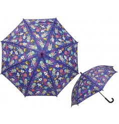 Perfect for rainy days and puddle jumping, this umbrella will keep any little one dry!