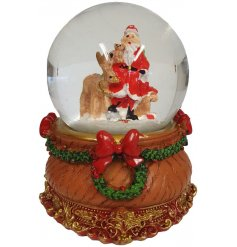 A Santa Snowglobe with added woodland friends and a Traditional Charm