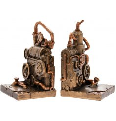this incredibly detailed Set of Bronzed Bookends is a must have in any collectors home