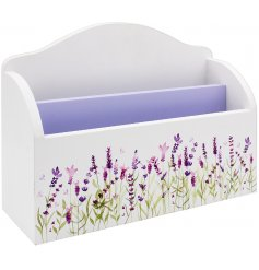 Decorated with a pretty lavender decal, this beautifully patterned letter storage box is perfect for any mail