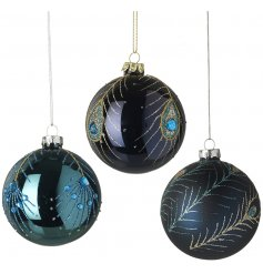 these gorgeous baubles will be sure to add an elegant touch to any tree decor at Christmas