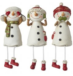 These shelf sitting ornaments will be sure to place perfectly in any home at Christmas time