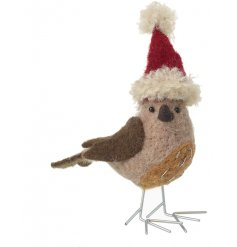Sure to add a charming touch to any home space during Christmas Time, a small woollen bird decoration
