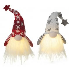 An assortment of Nordic themed gonks with magical warm glowing beads and high pointed hats