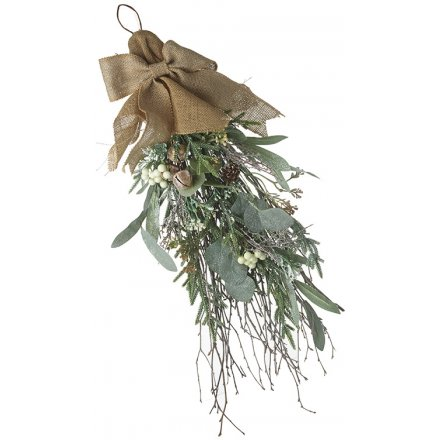 Foliage Bunch With Jute Bow, 60cm