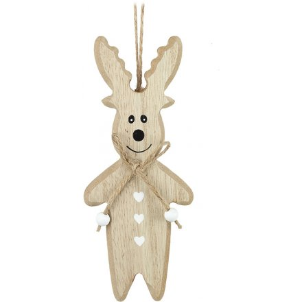 Hanging Wooden Reindeer
